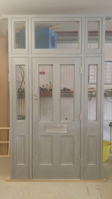 Accoya paneled door primed grey inside & Mayford Joinery | Gallery
