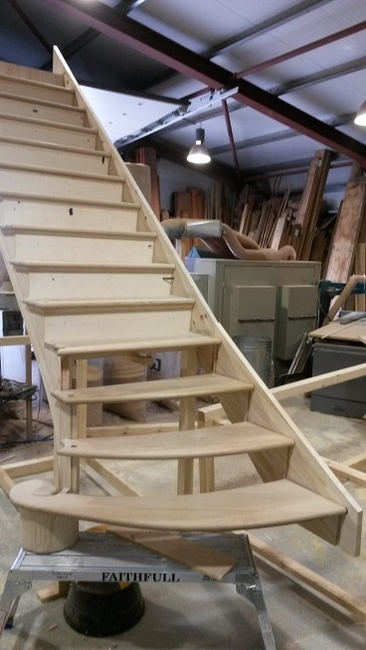 Oak Staircase With Mdf Risers No1